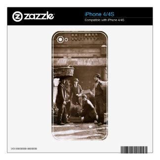 Covent Garden Labourers (woodburytype) Skins For iPhone 4S