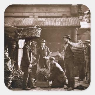 Covent Garden Labourers (woodburytype) Square Sticker