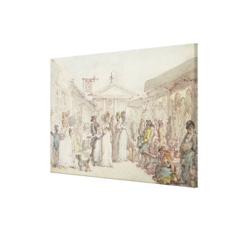 Covent Garden Market, c.1795-1810 (pen and ink, w/ Stretched Canvas Prints