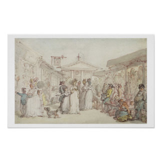 Covent Garden Market, c.1795-1810 (pen and ink, w/ Poster