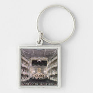 Covent Garden Theatre Silver-Colored Square Keychain
