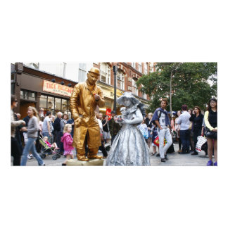 Covent Gardens Living Statues Customised Photo Card