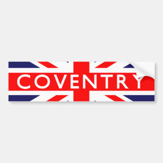 Coventry : British Flag Bumper Sticker