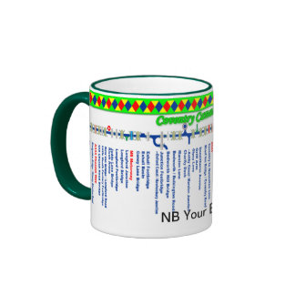 Coventry Canal Route Map (2nd of set 2) Ringer Mug