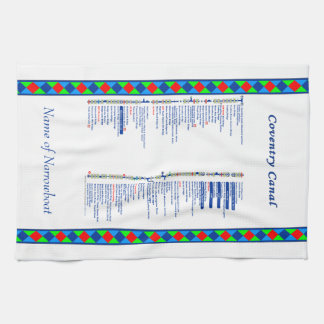 Coventry Canal UK Inland Waterways Route Blue Kitchen Towel