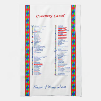 Coventry Canal UK Inland Waterways Route Red Towel