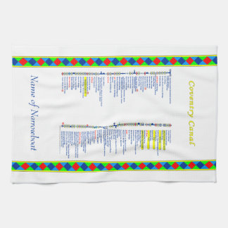 Coventry Canal UK Inland Waterways Route Yellow Towel