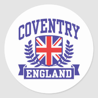 Coventry England Classic Round Sticker