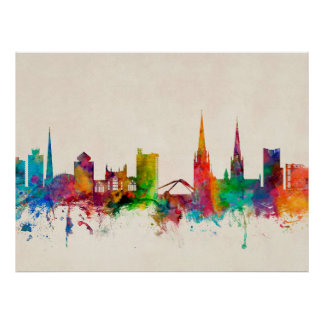 Coventry England Skyline Poster