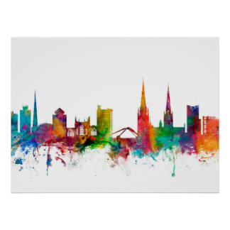 Coventry England Skyline Posters