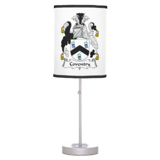 Coventry Family Crest Desk Lamps