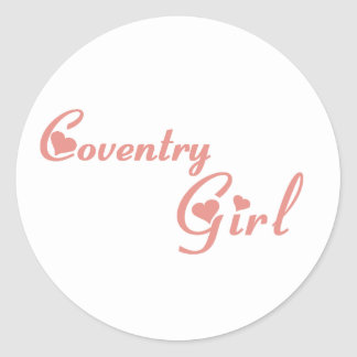 Coventry Girl Classic Round Sticker