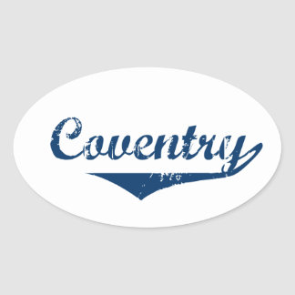 Coventry Oval Sticker
