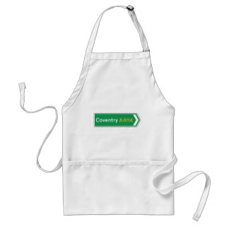 Coventry UK Road Sign Apron