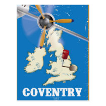 Coventry vintage travel poster postcard