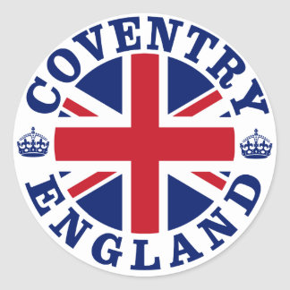 Coventry Vintage UK Design Classic Round Sticker