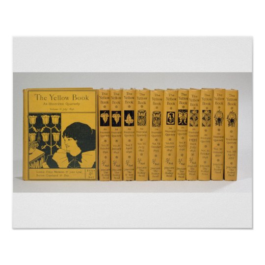 Cover and spine designs for 'The Yellow Book', Vol Poster