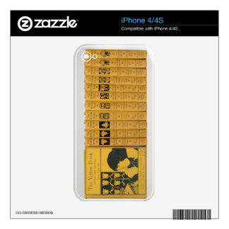 Cover and spine designs for 'The Yellow Book', Vol Skin For The iPhone 4