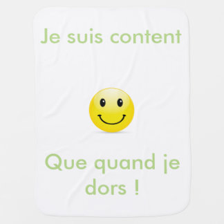 Cover baby smiley+text swaddle blanket