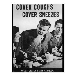Cover Coughs, Cover Sneezes Postcard