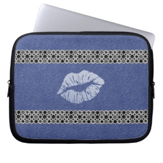 "Cover for laptop ""Blue Lips "" Laptop Computer Sleeve"