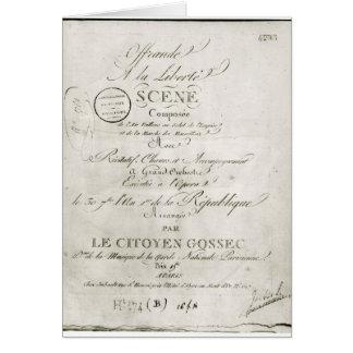 Cover for the score of 'Offrande a la Liberte' Card