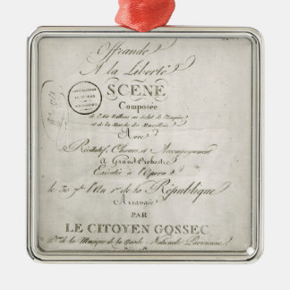 Cover for the score of 'Offrande a la Liberte' Metal Ornament