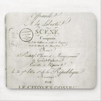 Cover for the score of 'Offrande a la Liberte' Mouse Pad