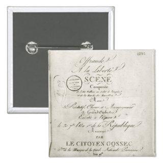 Cover for the score of 'Offrande a la Liberte' Pinback Button