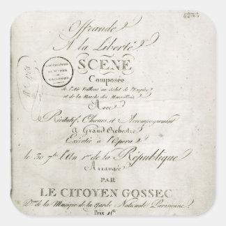 Cover for the score of 'Offrande a la Liberte' Square Sticker