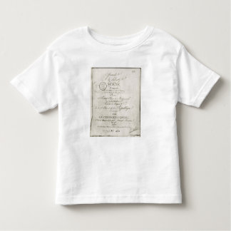 Cover for the score of 'Offrande a la Liberte' Toddler T-shirt