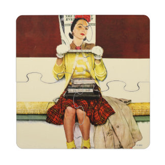 Cover Girl Puzzle Coaster