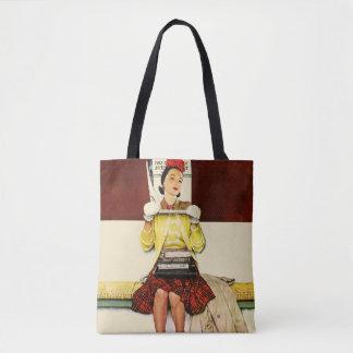 Cover Girl Tote Bag