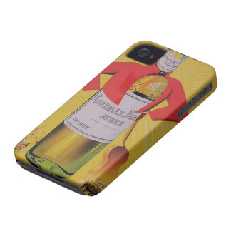 Cover housing for iPhone fine Wine Vintage Sherry