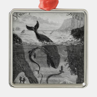Cover Illustration '20,000 Leagues Under the Sea' Metal Ornament