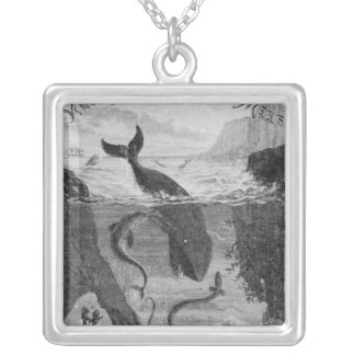 Cover Illustration '20,000 Leagues Under the Sea' Silver Plated Necklace
