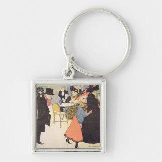 Cover illustration for 'La Vie en Rose', 1903 (col Silver-Colored Square Keychain