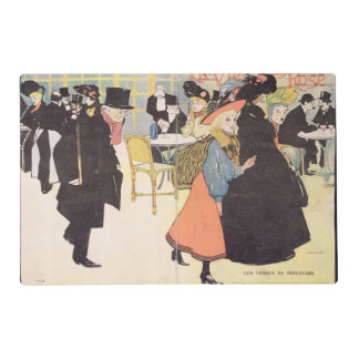 Cover illustration for 'La Vie en Rose', 1903 (col Laminated Place Mat