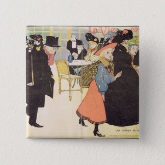 Cover illustration for 'La Vie en Rose', 1903 (col Pinback Button