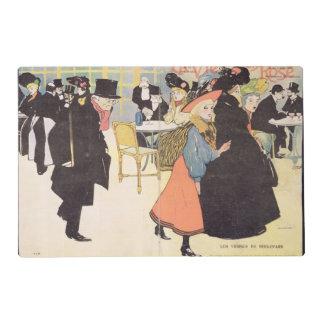 Cover illustration for 'La Vie en Rose', 1903 (col Placemat