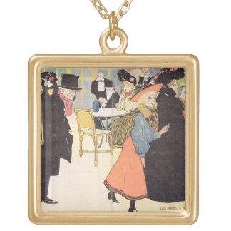 Cover illustration for 'La Vie en Rose', 1903 (col Square Pendant Necklace