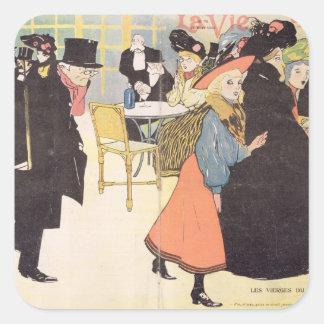 Cover illustration for 'La Vie en Rose', 1903 (col Square Sticker