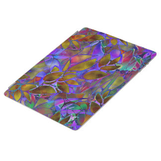 Cover iPad 2 3 4 Floral Abstract Stained Glass iPad Cover