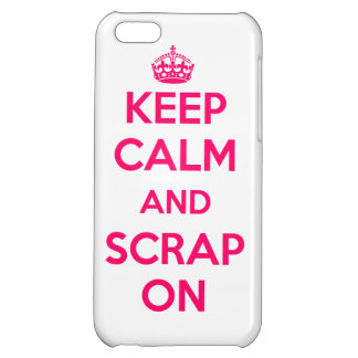 Cover iPhone5 Keep Calm and Scrap pink white On/