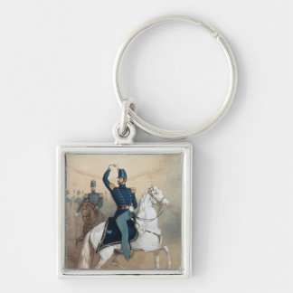Cover of a music song sheet Silver-Colored square keychain