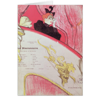 Cover of a programme for 'Le Missionaire' Card