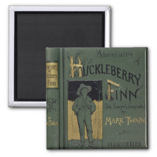 Cover of 'Adventures of Huckleberry Finn' by Mark 2 Inch Square Magnet