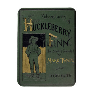 Cover of 'Adventures of Huckleberry Finn' by Mark Rectangular Photo Magnet