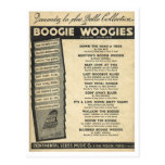 Cover of Boogie Woogie sheet music Postcard