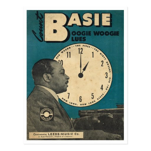 Cover of Count Bassie sheet music Post Cards